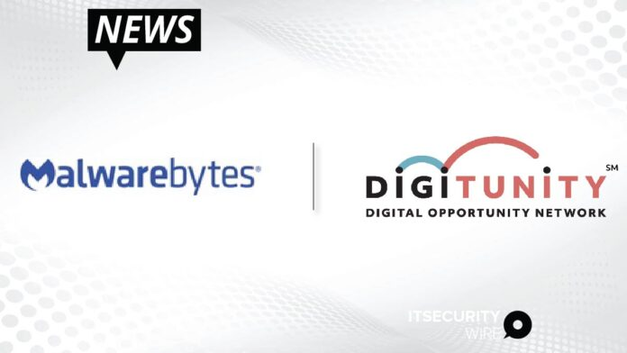 Malwarebytes Partners with Digitunity to provide Cyberprotection to Vulnerable Communities