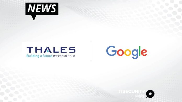 Thales and Google Expand Partnership to Support Enhanced Privacy and Confidentiality Capabilities for Google Workspace-01